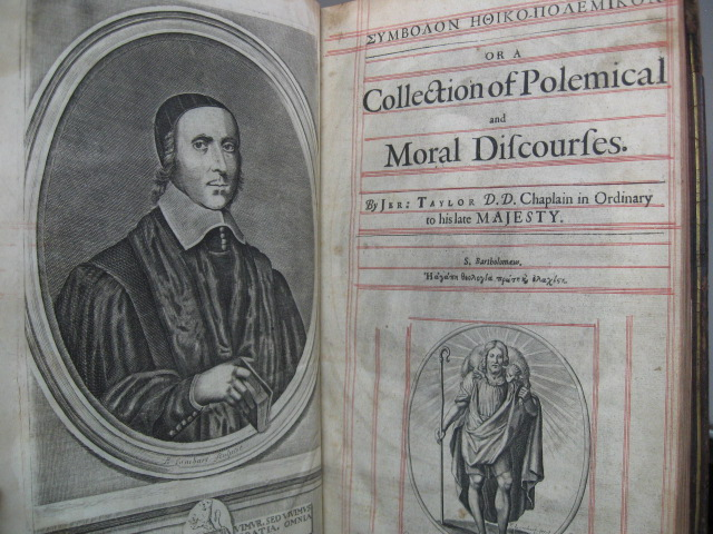Symbolon Ethiko-Polemikon. Or a Collection of Polemical and Moral Discourses. Jeremy Taylor.