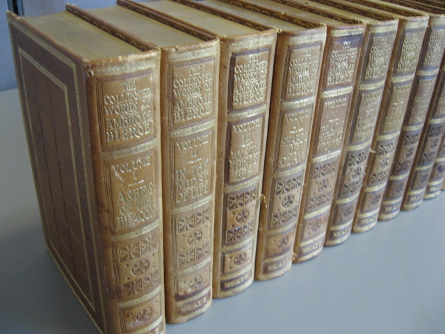 The Collected Works of Ambrose Bierce. Volumes 1-12, complete. SIGNED. Ambrose Bierce.