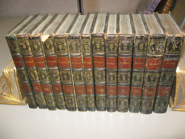The Works of Lord Byron. 13-volumes. George, ron.