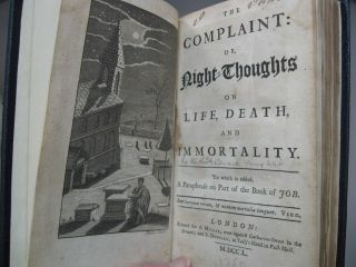 The Complaint, or, Night Thoughts on Life, Death, & Immortality