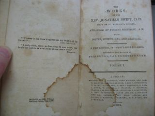 THE WORKS OF JONATHAN SWIFT, DEAN OF ST. PATRICK'S, DUBLIN Arranged by Thomas Sheridan, with Notes, Historical and Critical