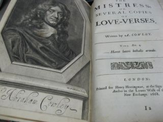 Cowley's Poems & Essays