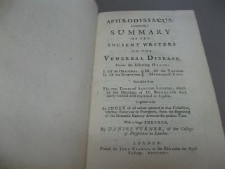 Aphrodisiacus. Containing a Summary of the Ancient Writers on the Venereal Disease.