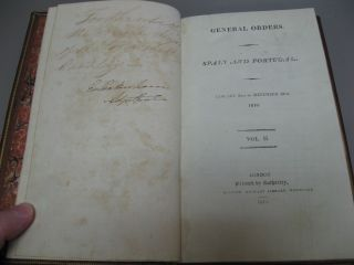 General Orders. Spain and Portugal. January 2nd to December 29th, 1810. Vol. II.