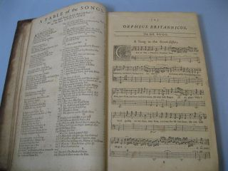 Orpheus Britannicus. A Collection of all the Choicest Songs. For One, Two, and Three Voices, compos'd by Mr. Henry Purcell. Together, With such Symphonies for Violins or Flutes, As were by Him Design'd for any of them: and A Through-Bass to each Song...&c.