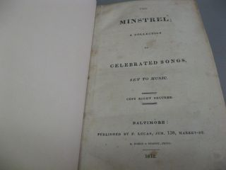 The Minstrel: A Collection of Celebrated Songs Set to Music (1812) (Scottish and Irish Airs)