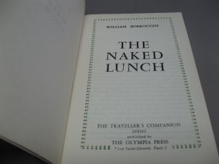 The NAKED LUNCH. The Traveller's Companion Series. No. 76.