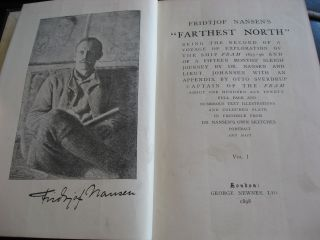 Nansen's Farthest North, being the Record of A Voyage of Exploration of the Ship Fram 1893-96 and of A Fifteen Months' Sleigh Journey By Dr Nansen and Lieut Johansen with an Appendix, Illustrated - 2 Volumes