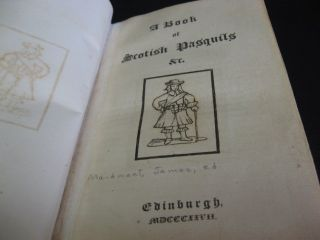 A Book of Scotish Pasquils &c. / A Second Book of Scotish Pasquils &c. / A Third Book of Scotish Pasquils &c.