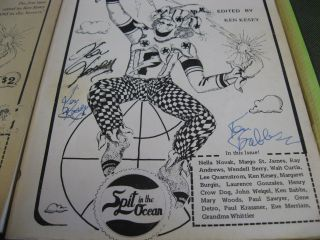 Spit in the Ocean. Numbers 1-6. SIGNED. & Spit in the Ocean #7: All About Kesey.