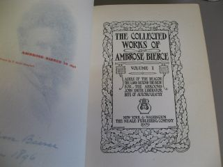 The Collected Works of Ambrose Bierce. Volumes 1-12, complete. SIGNED.