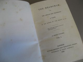 The Headsman; or, The Abbaye des Vignerons. A Tale. In Three Volumes.