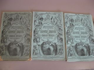The Mystery of Edwin Drood [First Edition in Original Monthly Parts, 1-6]. Charles Dickens