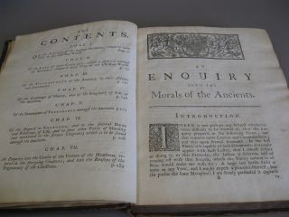 An Enquiry Into the Morals of the Ancients.
